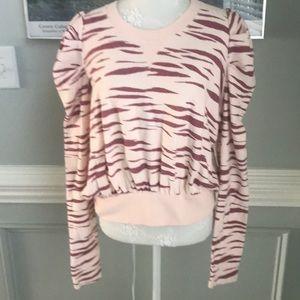 Free People Ballet Combo Cropped Sweatshirt